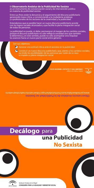 Decalogo Publicidad no sexista 2010