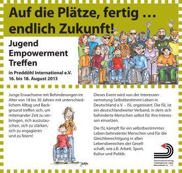 Flyer Jugend-Empowerment-Treffen - Taubenschlag
