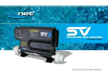 SpaNet SV Series User Manual - Evolution Spas