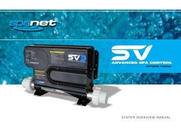 SpaNet SV Series User Manual - Evolution Spas