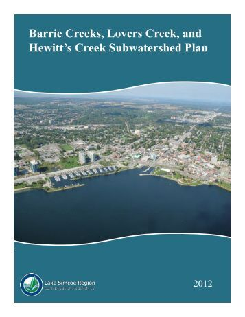 Barrie Creeks, Lovers Creek, and Hewitt's Creek Subwatershed Plan