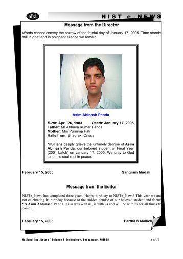 NIST e-NEWS(Vol 31, Feb 15, 2005)