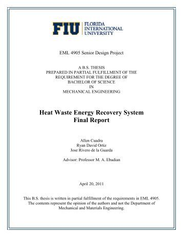 waste heat recovery system engineering essay Probe manufacturing inc (pmi) completes the purchase of the heat recovery solutions business from general electric international the acquisition includes substantially all of the assets relating to ge's heat recovery solutions business, which were located at ge's facility in costa mesa, california.