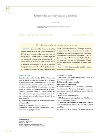 Enfermedad cerebrovascular y estatinas Cerebrovascular ... - SciELO