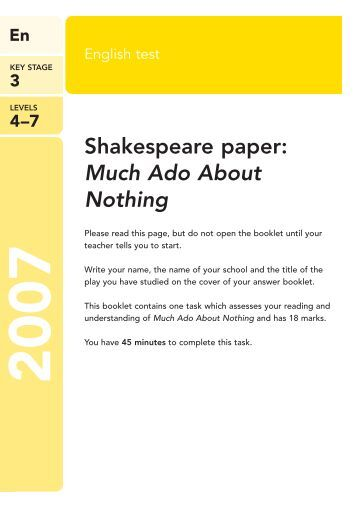 much ado about nothing assessment Free much ado about nothing papers, essays, and research papers.