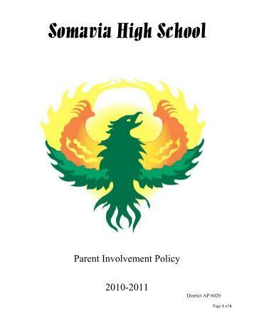 Parent Involvement Policy 2010/11 - Somavia High School - English