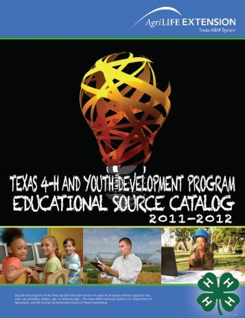 texas 4-h and youth development program educational source catalog