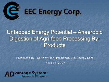 Anaerobic Digestion of Agri-food Processing By-Products
