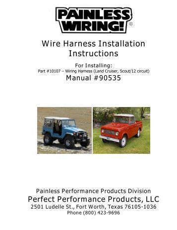 speedway wiring harness instructions