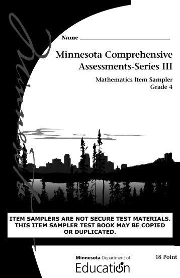 Mathematics MCA Grade 4 Item Sampler - Minnesota Assessments ...