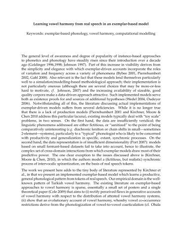 autosegmental analysis The wikipedia entry on optimality theory states, that ot differs from other approaches to phonological analysis, such as autosegmental phonology and linear phonology could someone point me to a.