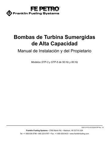 Bombas de Turbina Sumergidas de Alta Capacidad - Franklin ...