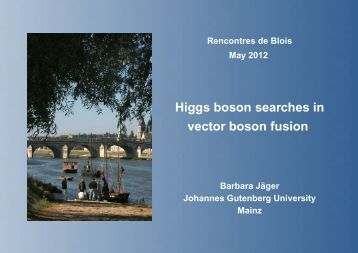 Rencontres de blois on particle physics and cosmology