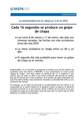 Nota de prensa (174 Kb) - Unespa