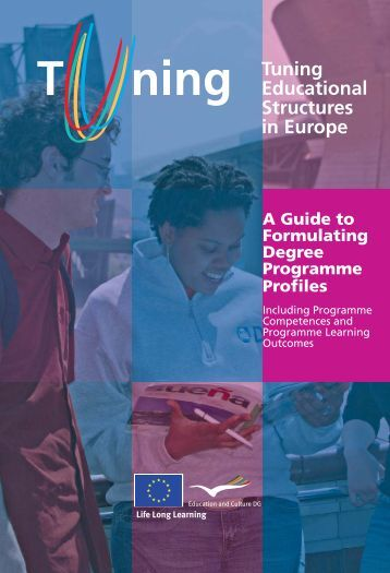 TUNING Guide to Formulating Degree Programme - CoRe Projects