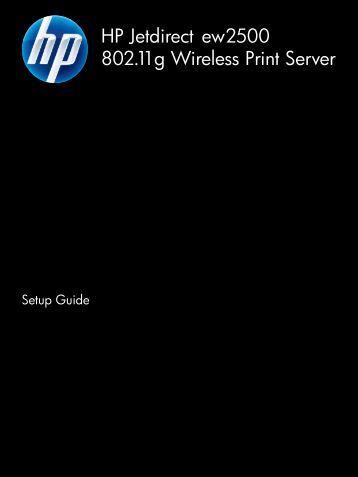HP Jetdirect ew2500 802.11g Wireless Print Server - Hewlett Packard