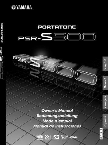 Bedienungsanleitung S 500 - Bauer-Music