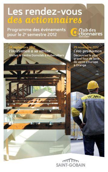 RDV_actionnaires_2e_semestre.pdf - Saint-Gobain