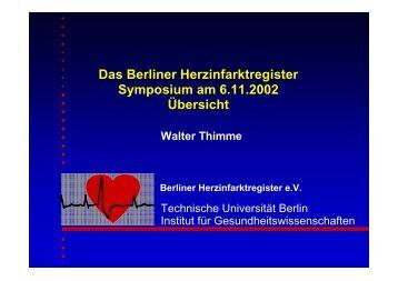 Behandlung - Berliner Herzinfarktregister
