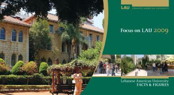 Focus on LAU 2009 - LAU Publications - Lebanese American ...