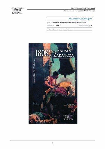1808. Los cañones de Zaragoza - Alfaguara