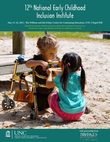 12th National Early Childhood Inclusion Institute Program