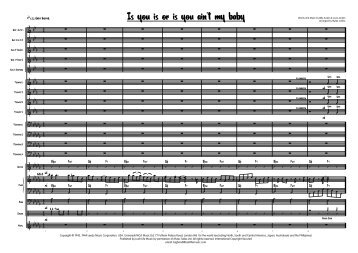 Is You Is Or Is You Ain't My Baby score pages 1 to 4 - Lush Life Music