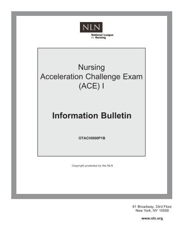 Nursing acceleration challenge exam study guide