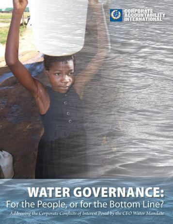 WATER GOVERNANCE: - Corporate Accountability International