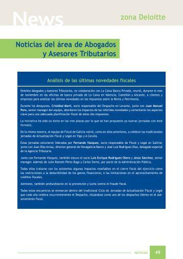 zona Deloitte Noticias del área de Abogados y Asesores ... - CISS