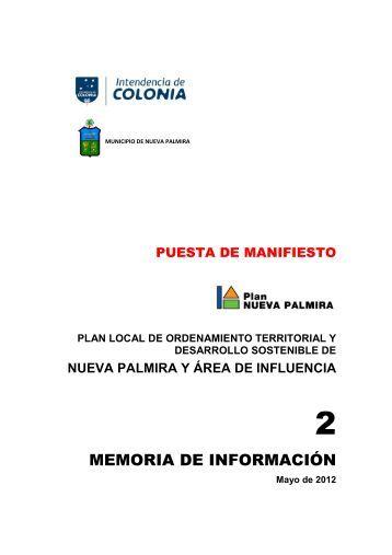 (2. MEMORIA DE INFORMACIÓN) - Intendencia de Colonia