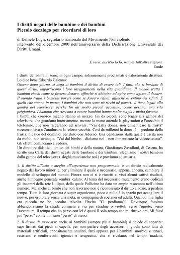 I diritti negati delle bambine e - regione emilia romagna