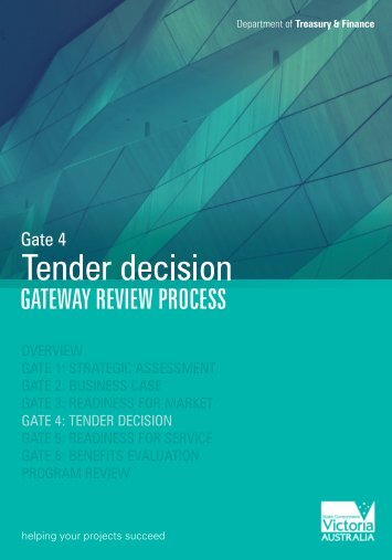 Gate 4 - Tender decision (PDF 7.52mb) - Department of Treasury ...
