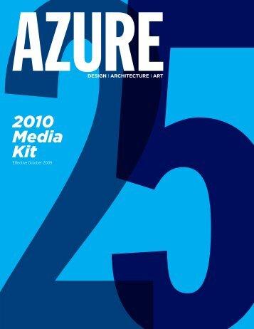2010 Media Kit - Azure Magazine