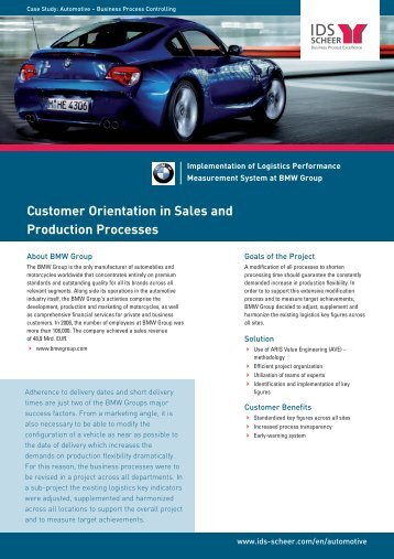 Customer Orientation in Sales and Production Processes