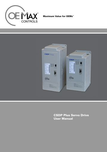 CSDP Plus Servo Drive User Manual