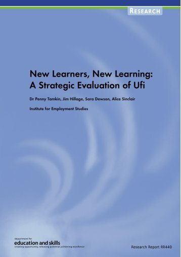 New Learners, New Learning - The Institute for Employment Studies