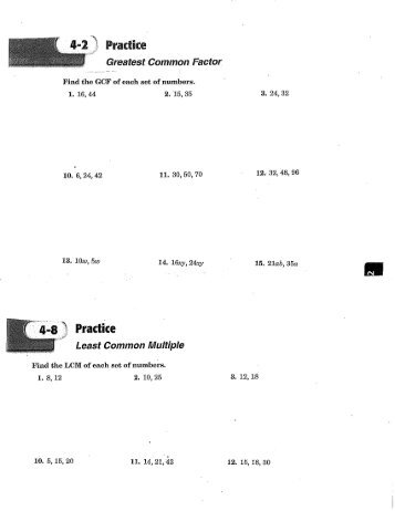 Factoring gcf worksheet pdf