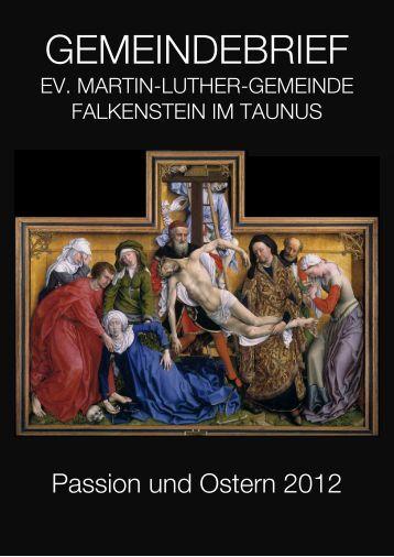 GEMEINDEBRIEF - Evangelische Kirche Falkenstein