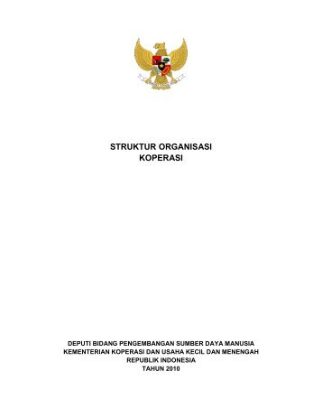 STRUKTUR ORGANISASI KOPERASI - Smecda