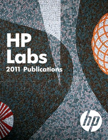 2011 Publications - HP Labs - Hewlett Packard