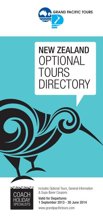 2013-14 Optional Tours Directory - Grand Pacific Tours