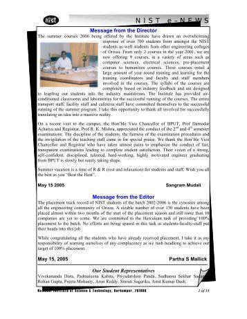 NIST e-NEWS(Vol 33, May 15, 2005)