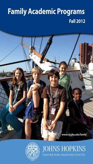 Family Academic Programs - Johns Hopkins Center for Talented ...