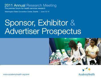Sponsor, Exhibitor & Advertiser Prospectus - AcademyHealth