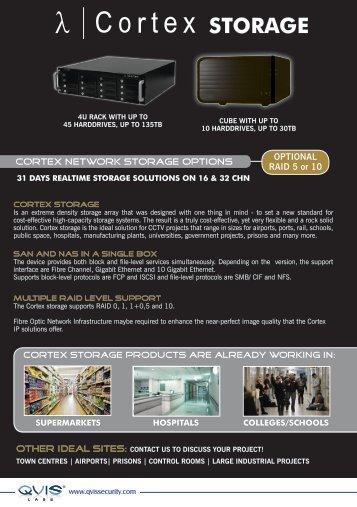 STORAGE - Qvis Security