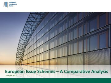 European Issue Schemes – A Comparative Analysis - EIB Institute ...