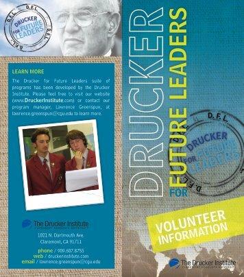 FUTURE LEADERS - The Drucker Institute