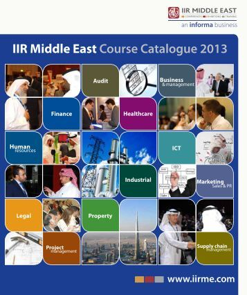 IIR Middle East Course Catalogue 2013