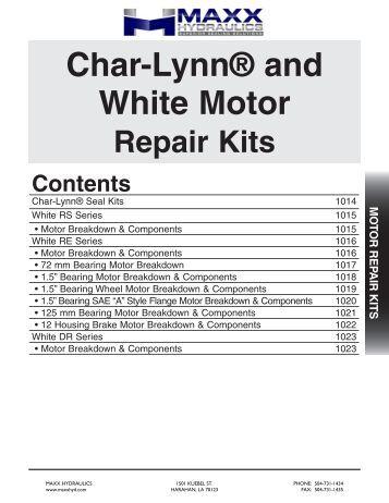Hydro line repair kits for Char lynn hydraulic motor repair